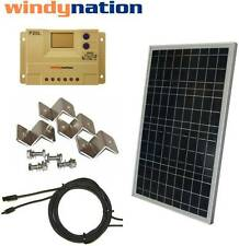 COMPLETE KIT: 30 W Watt 30W Solar Panel 12V Volt Battery RV Gate Boat Off Grid