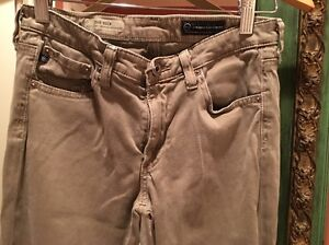 Adriano Goldschmied pants 26R The Edie Mid-Rise skinny Straight Jeans - Stretch