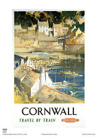 CORNWALL POLPERRO VINTAGE POSTER RAILWAY ADVERTISING  RETRO TRAVEL HOLIDAY