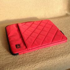 PKGD-Life Laptop and Tablet Carrying Case/Sleeve with Handle 16 Inch, Red Nylon