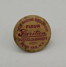 Vintage Self-Raising Buckwheat Flour Puritan Russell & Birkett button Penn Yan