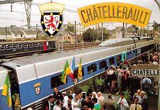 CP 86100 CHÂTELLERAULT TGV train gare baptême rame TGV N° 359 armes de la ville