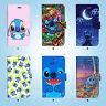 Disney Lilo stitch Flip Wallet Case Cover for HTC 10 One M7 M8 M9 079