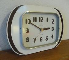 Belle Horloge Pendule formica  blanche Des Années 60's / 70's  fev23