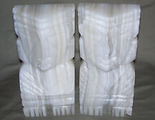 Hand Carved Mesoamerican Aztec, Mayan or Tiki style Bookends / Soapstone / Heavy