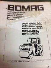 Bomag Workshop Repair Manual BW141 AD/AC BW151 AD/AC