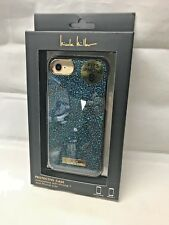 New Nicole Miller iPhone 8, iPhone 7, iPhone 6/6s Case Blue Glitter / Gold