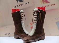 True Vintage Damen Winter Stiefel Wildleder 38 Braun Boots uk 5 Schneestiefel