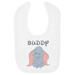 Baby Dumbo Personalised Baby BIB – Printed with Name