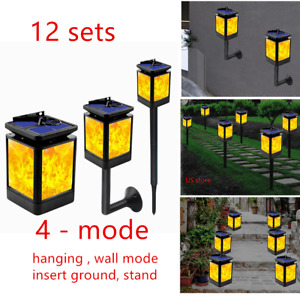 Lot 12Pcs LED Solar Dancing Flickering Torch Flame Light Outdoor Garden Lamp
