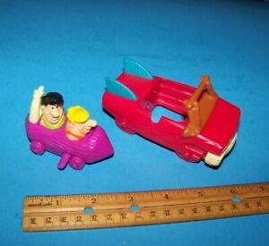 Flintstones Burger King Toys   ( 1 wind-up & 1 car ) Vintage