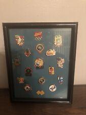 vintage Set Of 17 1996 Olympic Pins Framed