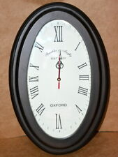 "Antique vintage wall clock collectible wooden 18"" decorative oval wall clock"