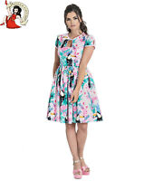 HELL BUNNY TOUCAN SUMMER DRESS tropical FLORAL XS-4XL