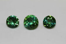 BLUE GREEN TOURMALINE  AFGHANISTAN VERY RARE COLLECTORS ITEM ROUNDS 7MM,6MM SET
