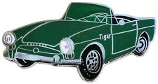 Sunbeam TIGER car cut out lapel pin - Green