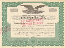 Clintonian Bar > Specimen stock certificate scripophily share