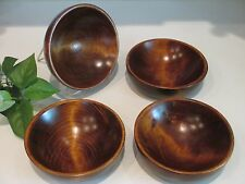 4 Weston Mill Vermont Wooden Salad Bowls signed