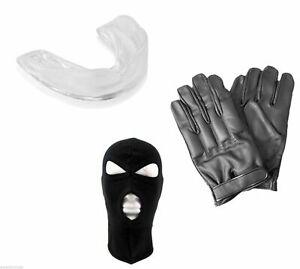 SOS Paket mit Quarzsand-Handschuhe Sturmhaube Zahnschutz - ultras hools demo etc
