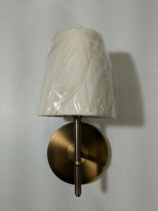 "West Elm Arc Mid-Century Sconce Brass Hardwired Holds 1-Light 7""w x 6""d x 12""h"