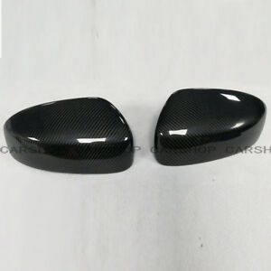 For INFINITI G25 G37 Q60 08-14 Real Carbon Fiber Side Mirror Cover Cap Add On