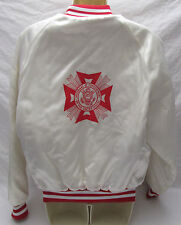 Vintage Vfw Veterans of Foreign Wars U.S. Satin Jacket Small Swingster Usa Beth