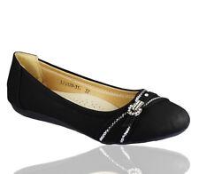 Mujer Bailarina Ballet Muñequita Manoletinas Plano Verano Zapatos Diamante Talla