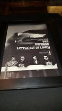 The Express Little Bit Of Lovin' Rare Original Promo Poster Ad Framed!