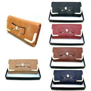 STYLISH LADIES PURSE CLUTCH BAG COINS WALLET ACCESSORIES GIFTBOX  FREE DELIVERY