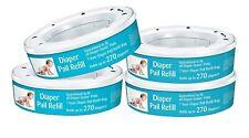 Neutrashield Diaper Pail Refill Bags, Fits All Diaper Genie Pails - 4 Pack