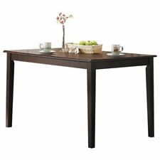 ACME Cardiff Square Wooden Top Dining Table in Espresso