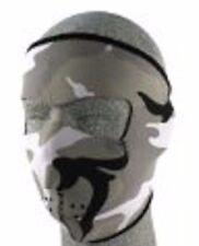 Zanheadgear Neoprene Full Mask-Urban Camo Gray,Green,Black,and White Camo-New!