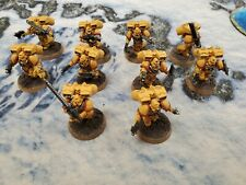 Pre-Painted - Warhammer 40k - Imperial Fists - Assault Squad - 5 Marines