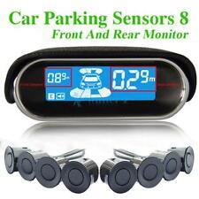 Waterproof Car Parking Sensors System+8 Rear Front View Reverse Backup Radar Kit