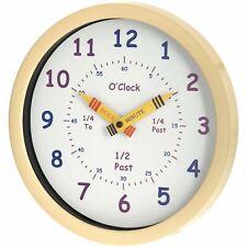 UNITY HENLEY LEARN THE TIME KIDS CHILDREN'S NURSERY WALL CLOCK IN CREAM