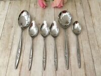 ARTHUR PRICE ATLAS ROSE SPOONS - 6PCE STAINLESS STEEL VINTAGE CUTLERY BUNDLE