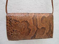 Beau sac à main  style pochette cuir  reptile TBEG vintage bag