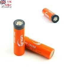 2PCS 18650 3.7V Li-ion Rechargeable Battery 3000Ah Flat Bottom CE RoHs UK Stock