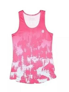 Sombrio Womens Relaxed Tank Top Tee Cycling Bike Pink Gray New