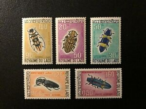 LAOS 1968 INSECTS , Sc 171 - c55 , MNH **