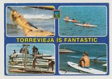 Postcard Pinup Risque Nude Girl Rare TORREVIEJA DIVERS VINTAGE Post Card 11856
