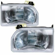 Ford Escort Mk4 1986-1990 Headlights Headlamps 1 Pair O/S And N/S