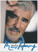 Mario Adorf - hand signed Autograph Autogramm - Autogrammkarte