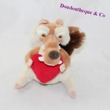 Peluche écureuil Scrat GIPSY L'âge de Glace avec un coeur 16 cm (D5)