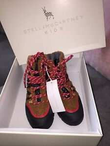 STELLA MCCARTNEY TEDDY BEAR ANKLE CALF HIKING BOOTS UK 12.5 KIDS EU 31 UNISEX
