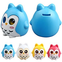 1X Owl Shape Piggy Bank Coin Money Box Saving Pot Decoration Kids Christmas Gift