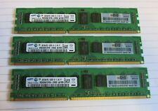 Samsung M393B5673FH0-CH9Q5 500202-061 6GB 3x2GB PC3-10600 DDR3 ECC CL9 240P RAM