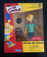 Simpsons World of Springfield Toyfare Exclusive Pin Pal Burns Playmates Toys Mib