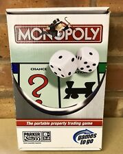 MONOPOLY TRAVEL 'GAMES TO GO' PARKER 2005 FACTORY SEALED PARTS