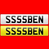 BEN,SS,55,SSS Private/Cherished/Personal Car Reg/Registration/Number Plate